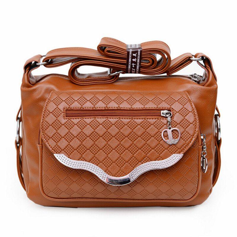 2017 women messenger bags leather handbag mid-age models shoulder bag crossbody mom handbags popular bag ladies MU179<br><br>Aliexpress