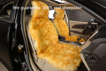 1 pc sheepskin car seat covers car accessories made in china factory price universal size for most car real skin car cushion fur