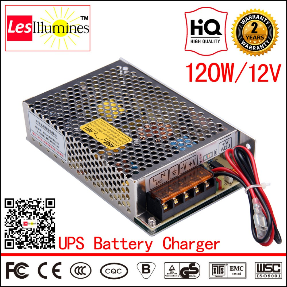 CCTV Used SC-120-12 AC DC UPS 12V Output External Car Battery Charger CE 120W 8A Switching Power Supply with 12V UPS Function<br>