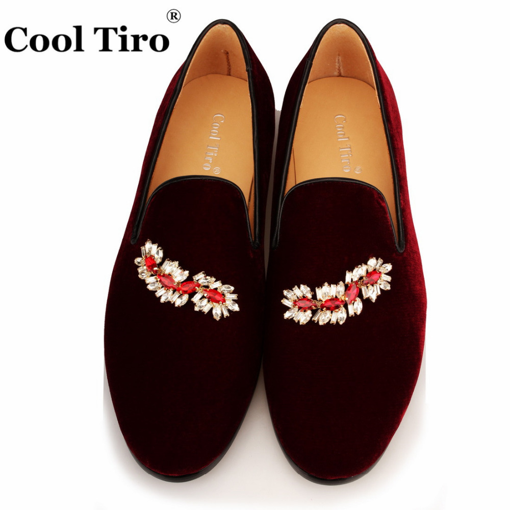 VELOUR BURGUNDY SLIPPERS Loafers (7)