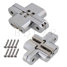 BQLZR 2pcs Hidden Invisible Concealed Cross Hinge 17.5KG/PCS Weight Capacity #7