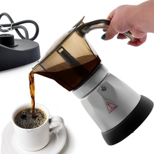 4 Cups 3 minutes Electric Automatic Coffee Maker French Press Cafetiere Coffee Tea Pot Kettle Home Office Coffee Machine