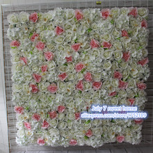 NEW Artificial silk flower wall wedding background rose grass orchid lawn/pillar road lead market decoration