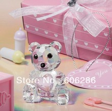 20pcs/lot crystal Wedding gifts-- Baby shower choice Crystal Collection Teddy Bear Favors figurines