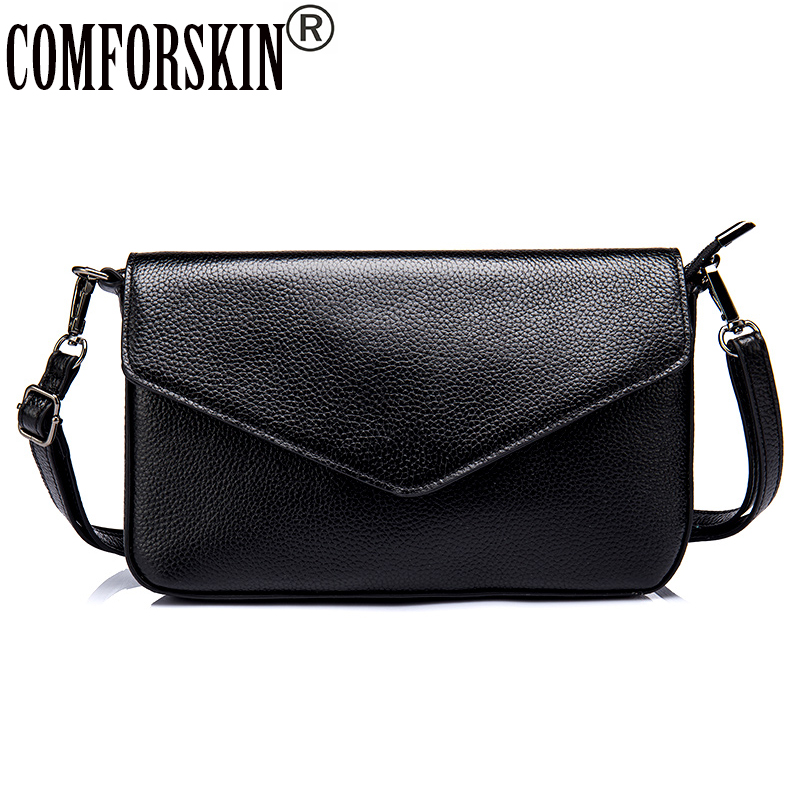 COMFORSKIN Brand Ladies Messenger Bags Cow Leather Bolsos Mujer Women Bag 2017 New Arrivals Shoulder Bag Women Leather Handbag  <br>