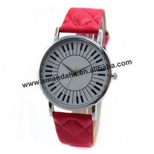 2015 Wholesale Fashion Grid Leather Strap Watch Women's Keyboard Watches Hot Leather Quartz Wrist Watch Women Dress Watches