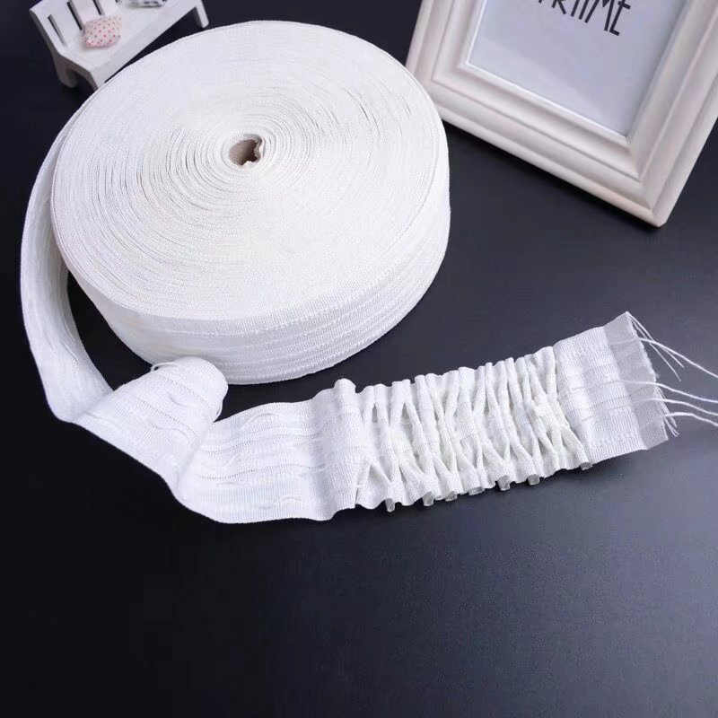 Pull Pleated Tape 5~30 Meters Curtain heading Ring Tapes Punching Curtain Accessories Pencil Pleat Hook Tape Non Woven CP101-20