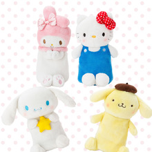 Japan Cartoon Sanrio My melody Hello Kitty Plush Pencil Case Pen Bag Plush Doll Stuffed Toys for Gifts