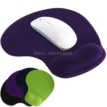 Solid Color Comfortable Gel Mouse Pad Anti-Slip Memory Foam Wrist Rest Support #K400Y# DropShip
