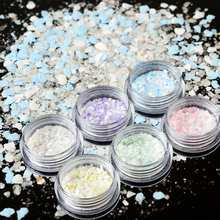 1 bottle 2017 Summer Mixed Irregular Fakes Nail Glitter Powder DIY Charm Sand Beach Sequin Nail Art Cool Decor Dust CH01-06
