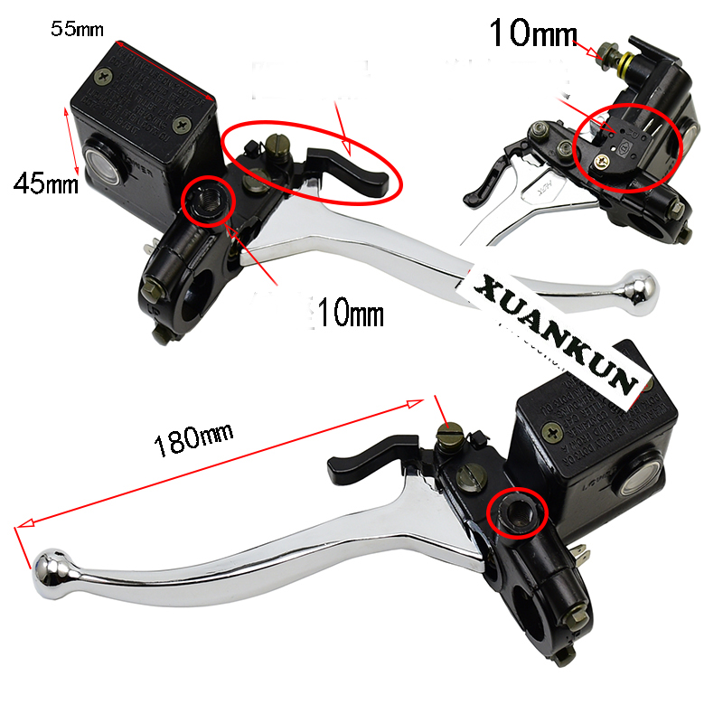 XUANKUN Motorcycle Modified Left / Right Upper Pump Total Pump Brake Pump Hydraulic Clutch Pump With Handle Lock<br>