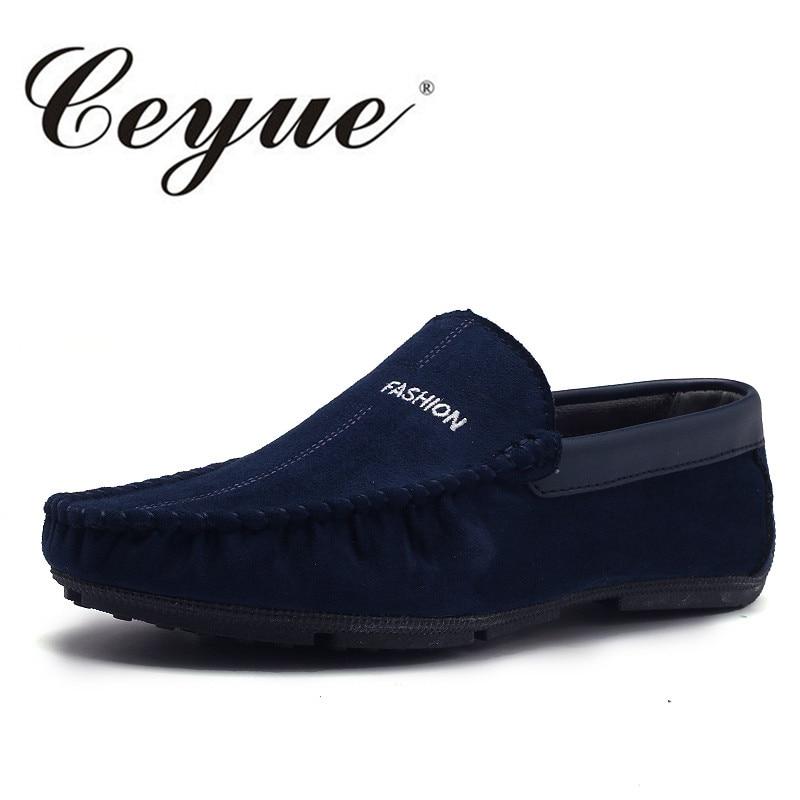 Ceyue 2017 Spring Handmade Leather Suede Shoes Men Business Designer Driving Breathable Men Casual Shoes Slip On Men Loafer Flat<br>