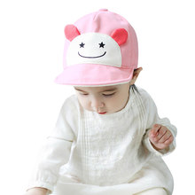 Baby Kids Caps Hats Soft Summer Sun Cute Hats Bonnet Cotton Outdoor Baby Baseball Hats Beret Caps For Boy Girl Baby Children(China)