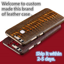 XQ12 ostrich foot pattern genuine leather hard case for Samsung Galaxy A7(2016) cover for Samsung Galaxy A7100 cover case(China)