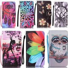 Big Eyes Fashion Owl Girl PU Leather Wallet Flip Cell Phone Case For Pouch Samsung Galaxy S7 Edge Cover Stand Cartoon Case Bag(China)