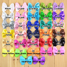 "10pcs/lot Fluorescent colors Size 2.5""Glitter Sequined embroidered DIY hair accessories Kids Small bow tie Boutique Bows"