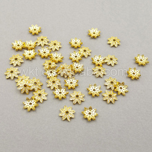 JF009 Beautiful ZC Micro Pave spacer Flower Bead Cap Finding High Quality Women Jewerly Finding 10*20mm(China)