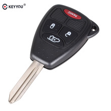 KEYYOU 4 Button Remote Key Case Shell For Jeep Chrysler Liberty Pacifica Sebring Aspen 300 Town PT Cruiser D-odge Magnum Charger