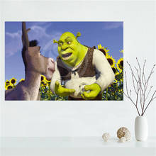 E#627L34 Custom shrek donkey babies Canvas Painting Wall Silk Poster cloth print DIY Fabric Poster free shipping Y30