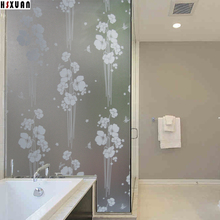 flower printed glass stickers 90X100cm pvc frosted Waterproof self Adhesive decorative static window film Hsxuan brand 909015