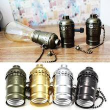 1Pcs Classic Retro Edison Lamp Holder E27 Lamp Socket Vintage Edison Light Holder Industrial Bulb Pendants Knob Lamp Bases(China)
