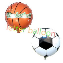 10PCS football basketball balloon Ball party Soccer balloon air baloes globos Inflator helium foil balloon sports meeting