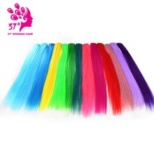 "Dream ice's Clip-in One Piece for Ombre Hair Extensions 16""40cm Pure Color Straight Long Synthetic Hair(China)"