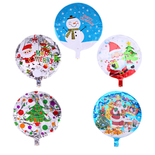5pcs Foil Balloon Helium Balloon Aluminum Foil Balloons Inflatable For Christmas Party Decor Snowman Santa Claus Christmas tree