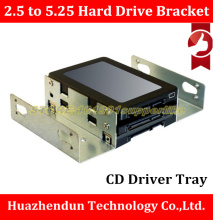 High Quality 2.5 inch to 5.25 inch Hard Drive Bracket CD Driver Tray Hard Drive Tray Desktop Notebook SSD Conversion(China)
