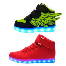 2017 Led Schoenen bike basket Chaussure Lumineuse Enfant Garcon Casual boy lighting girl Fille Kids Shoes With Lights