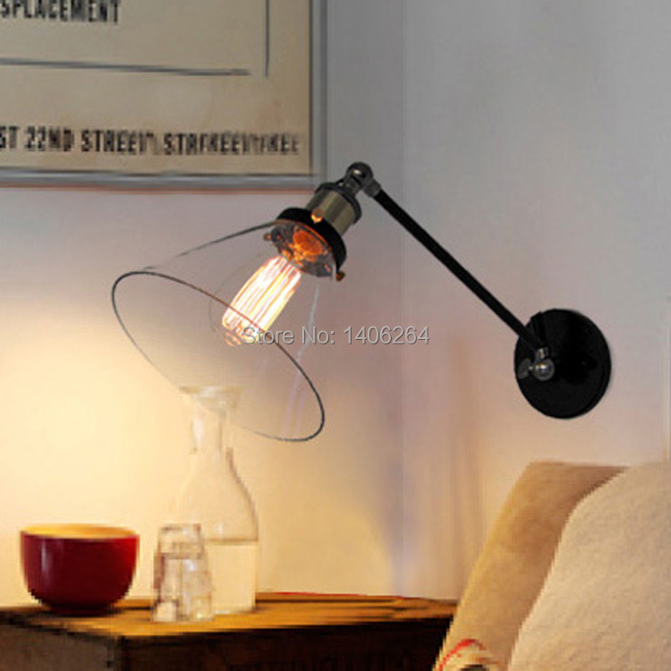 Industrial Vintage Edison Simplicity Mini Glass Wall Light Sconces Antique For Cafe Bar Hall Coffee Shop Club Store Restaurant<br>