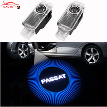 2 x Car Door Welcome LED Laser Projector Logo Ghost Shadow Light For VW Passat B5 B5.5 Phaeton Touareg