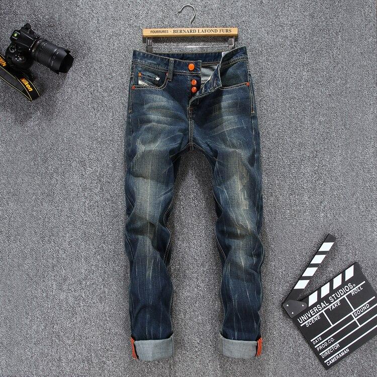2016 Famous Brand Jeans Men New Arrival Designer Slim Jeans Male Cotton Button Fly Casual Mens Jeans Large Size Jeans HommeÎäåæäà è àêñåññóàðû<br><br>