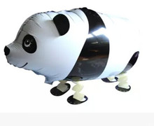 4pcs cute panda walking animal balloons,birthday party PVC bear toys for children kids boys girls party decoration