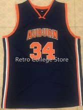 #34 CHARLES BARKLEY Auburn University Retro throwback College Basketball Jerseys Embroidery Stitched Any Name And Number(China)