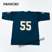Retro star #55 Junior Seau Embroidered Throwback Football Jersey(China)
