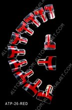 FedEx&DHL Free shipping - 128pcs Dual French Wrap Tips Red Double Wrap Plus Nail Art Tips 200 sets Wholesales(China)