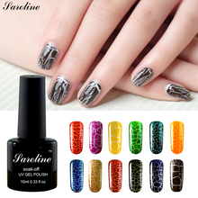 Saroline Hot Sale 10ml Crack Nail Lacquer 12 Colorfu sok off Crackle Shatter UV Nail Polish Cracking cheap Gel Varnish(China)