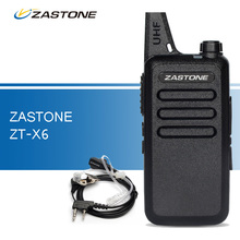 Zastone ZT-X6 Mini Walkie Talkie UHF 400-470 MHz Portable Ham Radio Handheld CB Radio Transceiver Walkie Talkies for Hunting(China)