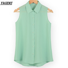 Buy YAGENZ NEW Fashion Work Wear Office Tops Blouses Summer Sleeveless Women Vest Chiffon Shirt Thin Shirts Young Female Clothes 123 for $10.19 in AliExpress store
