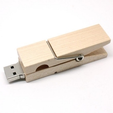 Fashion Recycled ECO Wooden Clip USB Flash Drive 8GB 16GB 32GB 64GB Pendrive 2TB 1TB Pen Drive 512GB Flash Usb Stick Memory Card