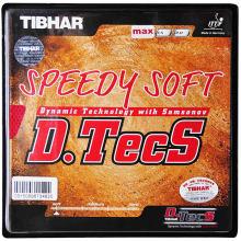 TIBHAR Short Pips SPEEDY SOFT D.TECS Pips-out Table Tennis Rubber Ping Pong Sponge(Hong Kong,China)