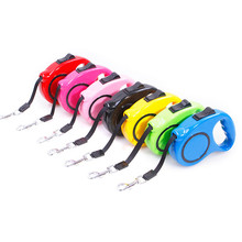 7 Color Nylon Auto Shrink Pet Dog Cat Traction Rope And Leash Puppy Walking Leads Set Chain Hitch Dog Chihuahua Pet Products