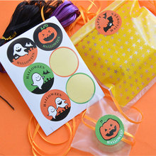10 page/lot (60pcs) Halloween stickers circular adhesive seal sticker Candy box gift card decoration Holiday party supplies