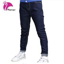 New Brand Baby Boys Jeans Children Trousers Korean Kids Clothes Boy Denim Straight Pants Teenage Boy  Age 6-15 Year