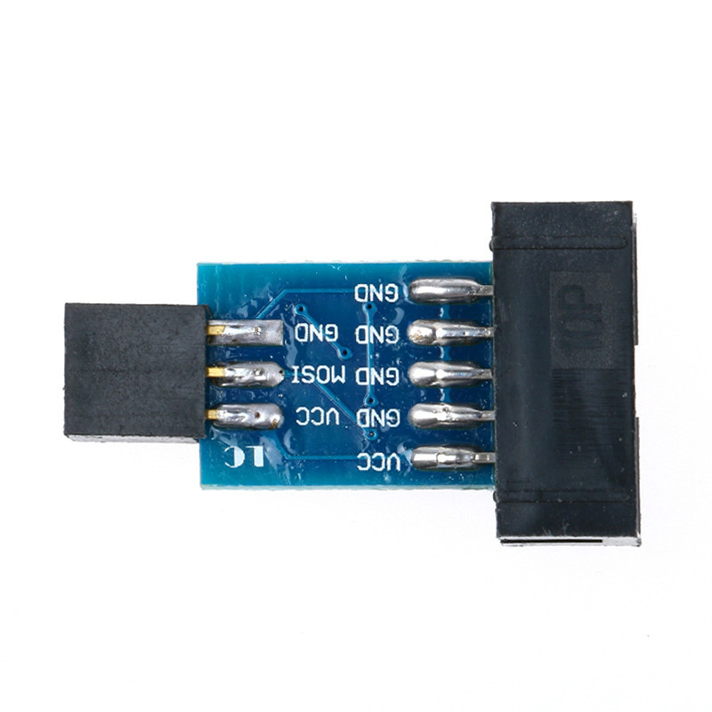 Details about  /1Pc 10Pin To 6Pin Adapter Board For AVRISP USBASP STK500 Interface Converter BH