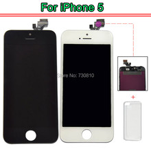 (Tianma) AAA Quality LCD For iPhone 5 5G 5S LCD Screen with Touch Digitizer Display Assembly Complete Replacement + TPU case