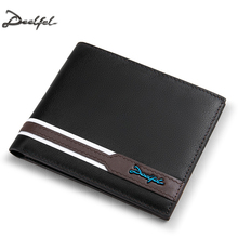 DEELFEL Genuine Leather Men Wallets And Purses Coin Purse Man Famous Small Short portomonee Mini Male Purses Card Holder Walet(China)