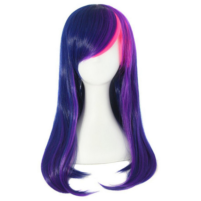 harajuku hair style womens synthetic wigs cosplay purple wig heat resistant party Lolita wig long curly ombre pastel wigs cheap<br><br>Aliexpress