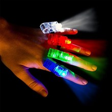 LED Finger Lights Glowing Dazzle Colour Laser Emitting Lamps Wedding Celebration Festival Kid Birthday Party decor(China)